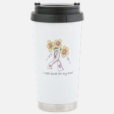 Pink For Aunt Stainless Steel Travel Mug