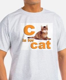 C is for Cat Ash Grey T-Shirt