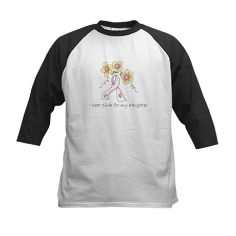 Pink For Daughter Kids Baseball Jersey