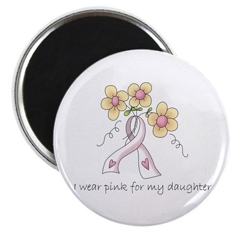 "Pink For Daughter 2.25"" Magnet (100 pack)"