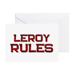 leroy rules Greeting Card