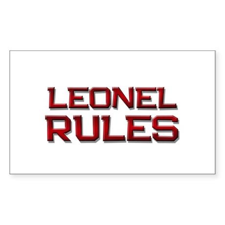 leonel rules Rectangle Sticker