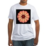 Orange-Red Zinnia I Fitted T-Shirt