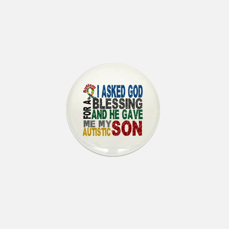 Blessing 5 Autistic Son Mini Button