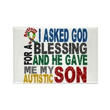 Blessing 5 Autistic Son Rectangle Magnet