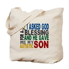 Blessing 5 Autistic Son Tote Bag