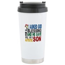 Blessing 5 Autistic Son Travel Mug