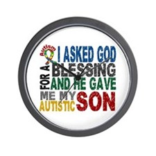 Blessing 5 Autistic Son Wall Clock