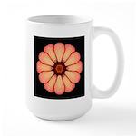 Orange-Red Zinnia I Large Mug