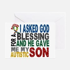 Blessing 5 Autistic Son Greeting Card