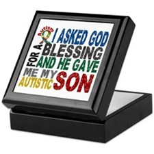 Blessing 5 Autistic Son Keepsake Box