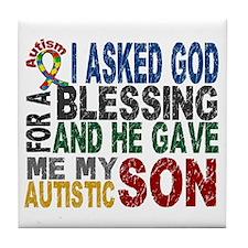 Blessing 5 Autistic Son Tile Coaster