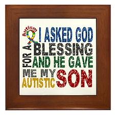 Blessing 5 Autistic Son Framed Tile