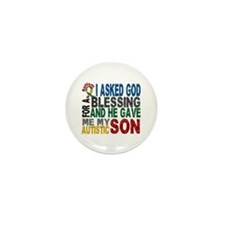 Blessing 5 Autistic Son Mini Button (10 pack)