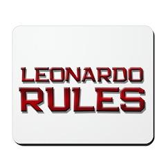 leonardo rules Mousepad