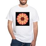 Orange-Red Zinnia I White T-Shirt