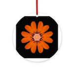 Orange Zinnia I Ornament (Round)