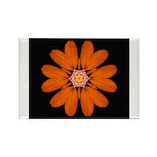 Orange Zinnia I Rectangle Magnet