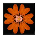 Orange Zinnia I Tile Coaster