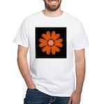 Orange Zinnia I White T-Shirt
