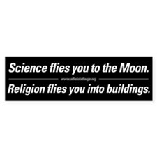 Science vs. Religion bumper sticker