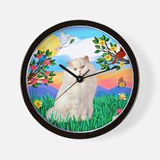 Bright Life / White Persian Wall Clock