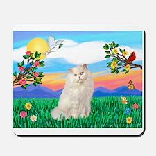 Bright Life / White Persian Mousepad