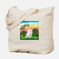 Bright Country / White Persian Tote Bag