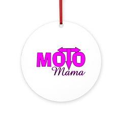 Moto Mama Ornament (Round)