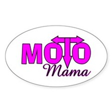 Moto Mama Oval Decal