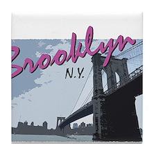 Cute New york yankee Tile Coaster