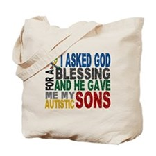 Blessing 5 Autistic Sons Tote Bag