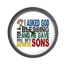Blessing 5 Autistic Sons Wall Clock
