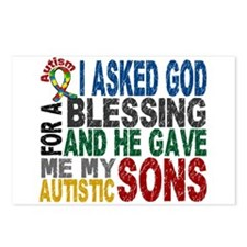 Blessing 5 Autistic Sons Postcards (Package of 8)