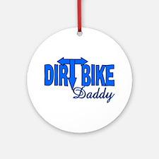 Dirt Bike Daddy Ornament (Round)