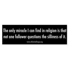 Religion is Silly bumper sticker