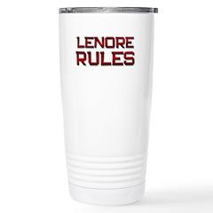 lenore rules Stainless Steel Travel Mug