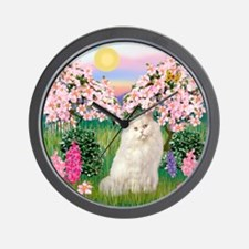 Blossoms / White Persian Wall Clock