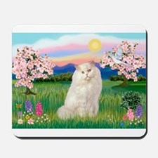 Blossoms / White Persian Mousepad