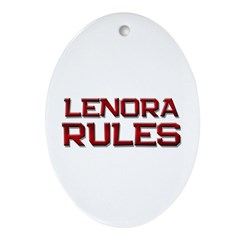 lenora rules Oval Ornament