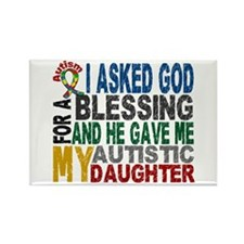 Blessing 5 Autistic Daughter Rectangle Magnet