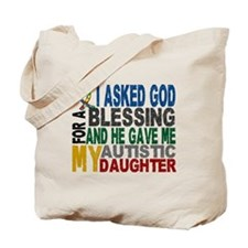 Blessing 5 Autistic Daughter Tote Bag