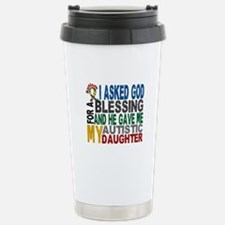 Blessing 5 Autistic Daughter Travel Mug