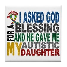 Blessing 5 Autistic Daughter Tile Coaster