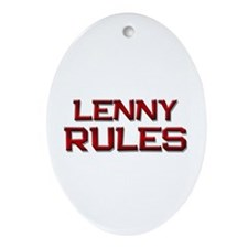 lenny rules Oval Ornament