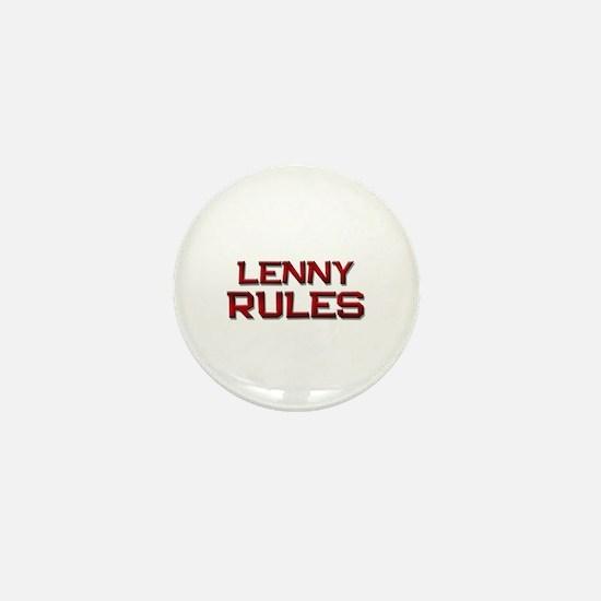 lenny rules Mini Button