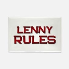 lenny rules Rectangle Magnet