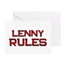 lenny rules Greeting Card
