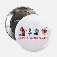 """ALICE IN WONDERLAND & FRIENDS 2.25"""" Button"""