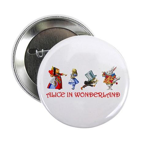 "ALICE IN WONDERLAND & FRIENDS 2.25"" Button (100 pa"
